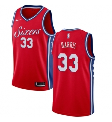 Men's Nike Philadelphia 76ers #33 Tobias Harris Red NBA Swingman Statement Edition Jersey