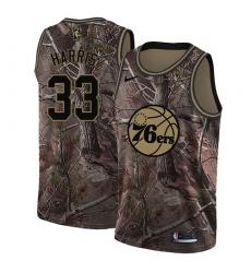 Women's Nike Philadelphia 76ers #33 Tobias Harris Camo NBA Swingman Realtree Collection Jersey