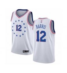 Women's Philadelphia 76ers #12 Tobias Harris White Swingman Jersey - Earned Edition