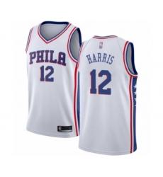 Youth Philadelphia 76ers #12 Tobias Harris Swingman White Basketball Jersey - Association Edition