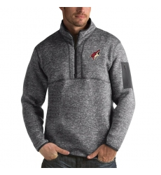 Men's Arizona Coyotes Antigua Fortune Quarter-Zip Pullover Jacket Black
