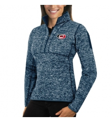 Carolina Hurricanes Antigua Women's Fortune Zip Pullover Sweater Royal