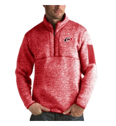 Men's Carolina Hurricanes Antigua Fortune Quarter-Zip Pullover Jacket Red