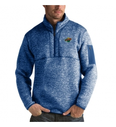 Men's Minnesota Wild Antigua Fortune Quarter-Zip Pullover Jacket Blue