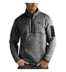 Men's Minnesota Wild Antigua Fortune Quarter-Zip Pullover Jacket Charcoal