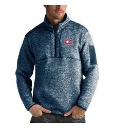 Men's Montreal Canadiens Antigua Fortune Quarter-Zip Pullover Jacket Royal