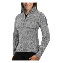 Nashville Predators Antigua Women's Fortune Zip Pullover Sweater Black