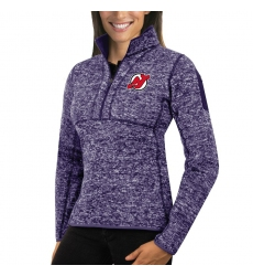 New Jersey Devils Antigua Women's Fortune Zip Pullover Sweater Purple