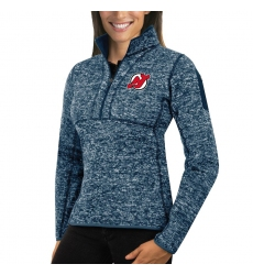 New Jersey Devils Antigua Women's Fortune Zip Pullover Sweater Royal
