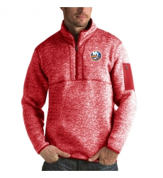 Men's New York Islanders Antigua Fortune Quarter-Zip Pullover Jacket Red