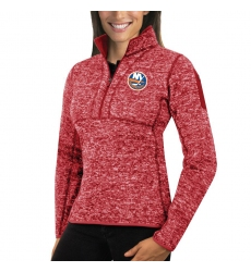 New York Islanders Antigua Women's Fortun Zip Pullover Sweater Red