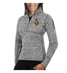 Ottawa Senators Antigua Women's Fortune Zip Pullover Sweater Black