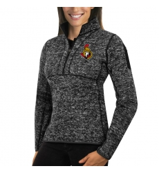 Ottawa Senators Antigua Women's Fortune Zip Pullover Sweater Charcoal