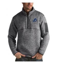 Men's Tampa Bay Lightning Antigua Fortune Quarter-Zip Pullover Jacket Black