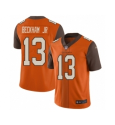 Men's Cleveland Browns #13 Odell Beckham Jr. Limited Orange City Edition Football Jersey
