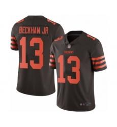 Men's Odell Beckham Jr. Limited Brown Nike Jersey NFL Cleveland Browns #13 Rush Vapor Untouchable