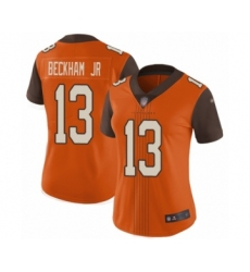 Women's Cleveland Browns #13 Odell Beckham Jr. Limited Orange City Edition Football Jersey