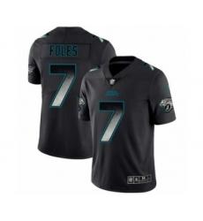 Men's Jacksonville Jaguars #7 Nick Foles Limited Black Smoke Fashion Football Jersey