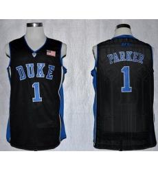 Blue Devils #1 Jabari Parker Black Basketball Stitched NCAA Jersey