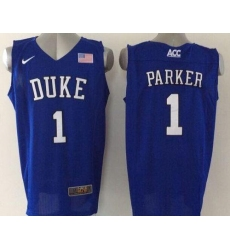 Blue Devils #1 Jabari Parker Blue Basketball Elite Stitched NCAA Jersey