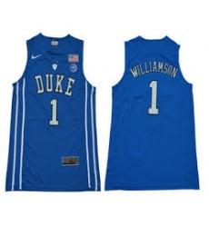 Duke Blue Devils #1 Zion Williamson Royal Blue Basketball Elite Stitched NCAA Jersey