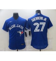 Men's Nike Toronto Blue Jays #27 Vladimir Guerrero Jr. Blue Home Stitched Baseball Jersey