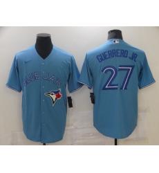 Men's Nike Toronto Blue Jays #27 Vladimir Guerrero Jr. Blue Stitched Baseball Jersey