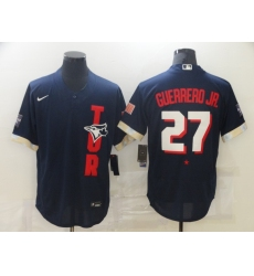 Men's Toronto Blue Jays #27 Vladimir Guerrero Jr. Nike Navy 2021 All-Star Game Replica Player Jersey
