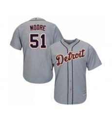 Men's Detroit Tigers #51 Matt Moore Replica Grey Road Cool Base Baseball Jersey