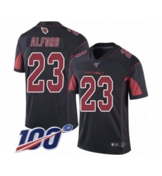 Youth Arizona Cardinals #23 Robert Alford Limited Black Rush Vapor Untouchable 100th Season Football Jersey
