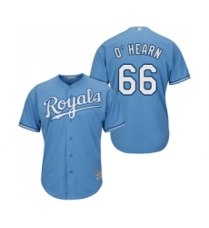Men's Kansas City Royals #66 Ryan O Hearn Replica Light Blue Alternate 1 Cool Base Baseball Jersey