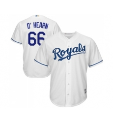 Men's Kansas City Royals #66 Ryan O Hearn Replica White Home Cool Base Baseball Jersey
