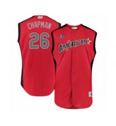 Men's Oakland Athletics #26 Matt Chapman Authentic Red American League 2019 Baseball All-Star Jersey