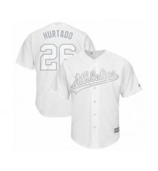 Men's Oakland Athletics #26 Matt Chapman  Hurtado  Authentic White 2019 Players Weekend Baseball Jersey
