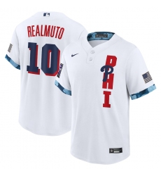 Men's Philadelphia Phillies #10 J.T. Realmuto Nike White 2021 MLB All-Star Game Replica Player Jersey