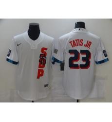 Men's San Diego Padres #23 Fernando Tatis Jr. Nike White 2021 All-Star Game Authentic Jersey