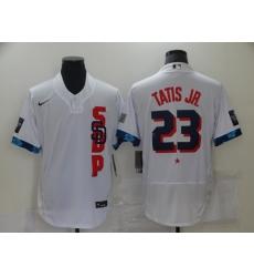 Men's San Diego Padres #23 Fernando Tatis Jr. Nike White 2021 MLB All-Star Game Authentic Jersey