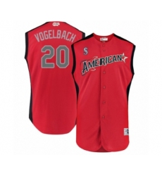Youth Seattle Mariners #20 Dan Vogelbach Authentic Red American League 2019 Baseball All-Star Jersey