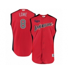 Men's Tampa Bay Rays #8 Brandon Lowe Authentic Red American League 2019 Baseball All-Star Jersey