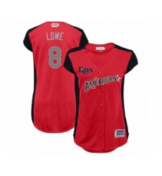 Women's Tampa Bay Rays #8 Brandon Lowe Authentic Red American League 2019 Baseball All-Star Jersey