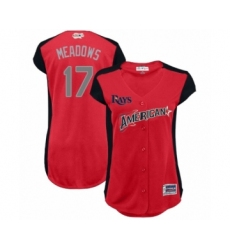 Women's Tampa Bay Rays #17 Austin Meadows Authentic Red American League 2019 Baseball All-Star Jersey