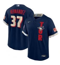 Men's Toronto Blue Jays #37 Teoscar Hernández Nike Navy 2021 MLB All-Star Game Replica Player Jersey