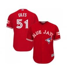 Men's Toronto Blue Jays #51 Ken Giles Replica Scarlet Alternate Cool Base Baseball Jersey