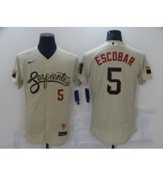 Men's Arizona Diamondbacks #5 Eduardo Escobar Gold 2021 City Connect Replica Player Jersey