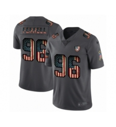 Men's Oakland Raiders #96 Clelin Ferrell Limited Black USA Flag 2019 Salute To Service Football Jersey