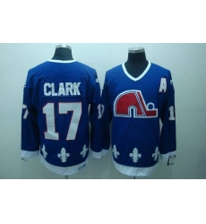 Nordiques #17 Wendel Clark Stitched CCM Throwback blue NHL Jersey