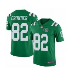 Men's New York Jets #82 Jamison Crowder Limited Green Rush Vapor Untouchable Football Jersey
