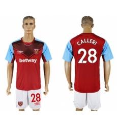 West Ham United #28 Calleri Home Soccer Club Jersey