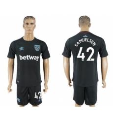 West Ham United #42 Samuelsen Away Soccer Club Jersey
