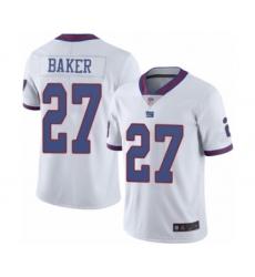 Men's New York Giants #27 Deandre Baker Limited White Rush Vapor Untouchable Football Jersey
